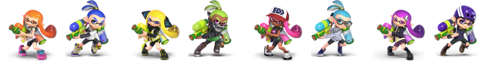 Image taken from Smash Direct at 16:59. Flipped Horizontally so that the costumes are in their proper order.