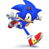 Sonic as he appears in Super Smash Bros. 4.