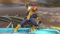 Captain Falcon's second idle pose in Super Smash Bros. for Wii U.