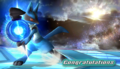 Lucario Congratulations Screen Classic Mode Brawl.png