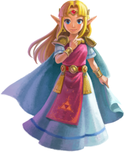Official artwork of Zelda from The Legend of Zelda: A Link Between Worlds.
