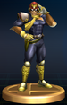 Captain Falcon trophy from Super Smash Bros. Brawl.