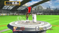 The Super Smash Bros. for Wii U version of the Home-Run Contest.