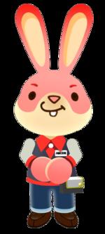 Official artwork of Arcade Bunny from Nintendo Badge Arcade.