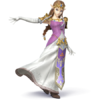 Zelda as she appears in Super Smash Bros. 4.