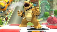 Bowser's first idle pose in Super Smash Bros. for Wii U.