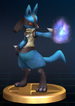 Lucario trophy from Super Smash Bros. Brawl.